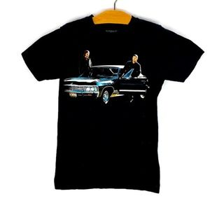 Supernatural Tee Sam Dean Winchester Baby Impala